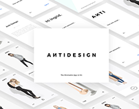 ANTIDESIGN - The Minimalist e-commerce UI Kit