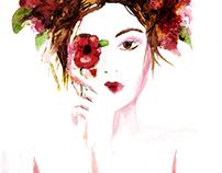 Summer Florals Fashion Illustration part 2