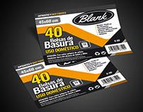 """Etiquetas para Bolsas de Basura """"Blank"""""""