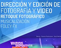Servicio de Producción y postproducción audiovisual