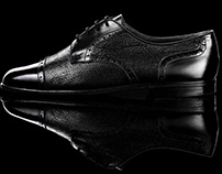 Advertising shot of oxford shoes