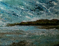 A view from Pier Size: 14x11 inch Medium: Acrylic