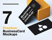 7 Premium Business Card Mockups (1 FREE)