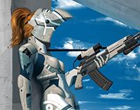 Cyborg girl Zero - Recon upgraded