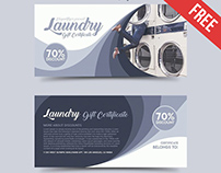 Laundry – Free Gift Certificate PSD Template