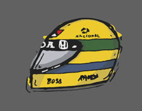 in memory of F1 Hero, Senna