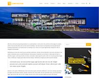 Single Blog Post - Construction WordPress Theme