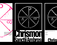 Chrismon of Saint Ambrose Posters ☧