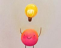 Happy light bulb guy