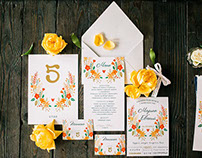 Sets of wedding paper