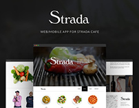 Web/Mobile App for Strada Cafe