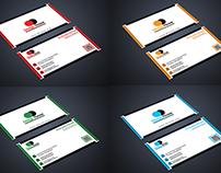 4 color simple Business Card design