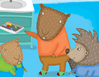 Activity book illustrations for preschoolers.