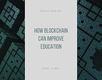 Nadav Zeimer   How Blockchain can Improve Education