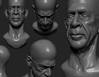 Sculpting studies