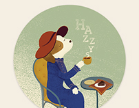 Happy Tea Time Pattern Design for HAZZYS