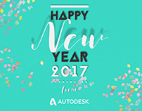 Happy New Year 2017 Autodesk e-card Design