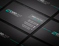 Free Minimal Black Business Card Template