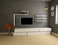 television unit design & produced