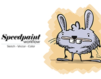Speedpaint - Workflow - From idea to creation - Rabbit