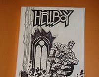 Hellboy on canvas