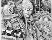 Poetry book illustrations; caricatures; random works