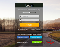 Login and Sign Up - Form