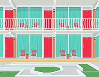 Motel doors