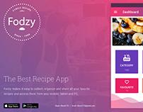 Recipe App : UI Design, UX Consultant, AI, PSD