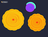 Vector flower with blend tool tutorial