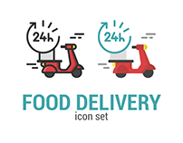 Food Delivery /Takeaway - Icon Set