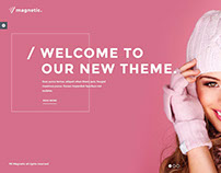 Magnetic WordPress theme Example for models agency