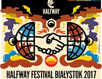 GRAPHIC IDENTITY HALFWAY Festival 2017