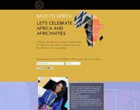 Back to Africa Website Design