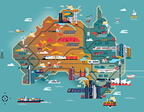 Australia's illustrated map