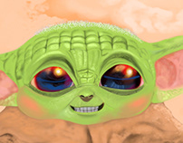 Baby Yoda Illustration
