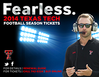 Design Work & Branding for Texas Tech Athletics Dept.