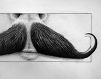 WIP. Mustache illustration (updated)