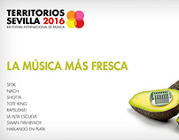 Territorios Sevilla. Music Festival Poster