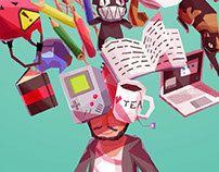 Personal Business Card Illustration