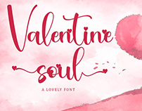 Free Valentine Soul Calligraphy Font