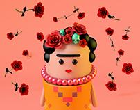 Volando con Frida&Diego // Fan Art