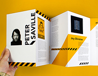 Peter Saville designer accordian