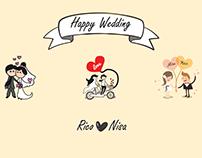 Desain Undangan Nikah, Happy Wedding Rico & Nisa