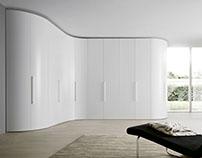 Most Beautiful White Corner Wardrobe