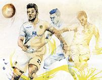 Leeds United Illustrated Poster