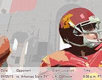 Trojan Football - Art Deco style poster