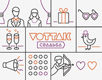 Vottak Wedding identity