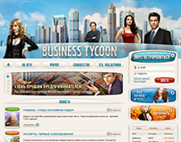 Business Tycoon Game. Web Portal Concept