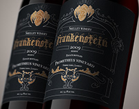 Wine label Frankenstein